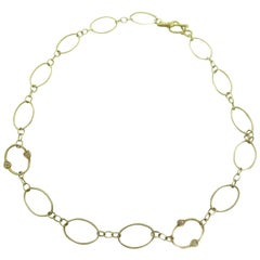 Judith Ripka 18 Karat Yellow Gold Circular Link Necklace
