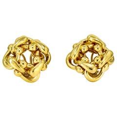 Judith Ripka 18 Karat Yellow Gold Clip-On Earrings