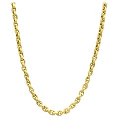 Judith Ripka 18 Karat Yellow Gold Diamond Chain Link Necklace 0.09 Carat