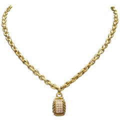 Judith Ripka 18 Karat Yellow Gold Diamond Necklace