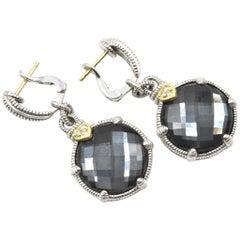 Judith Ripka Black Onyx Sterling Silver Black Onyx Drop Earrings