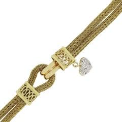 Judith Ripka Diamond Heart Bracelet