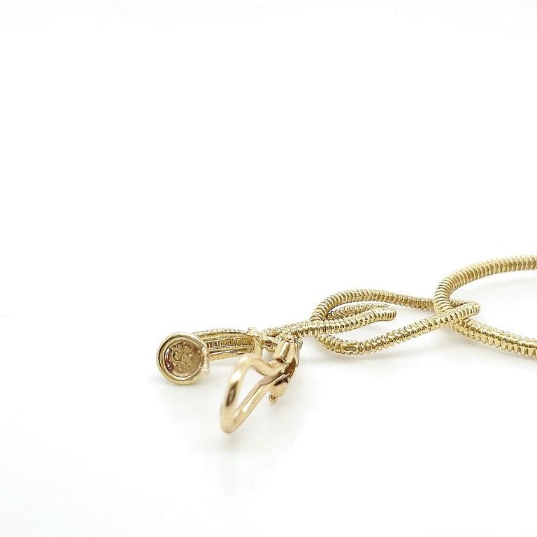 Judith Ripka Gold Diamond Triple Hoop Earrings For Sale 1
