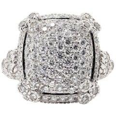 """Judith Ripka """"Olivia"""" 2.65 Carat Gold Ring"""