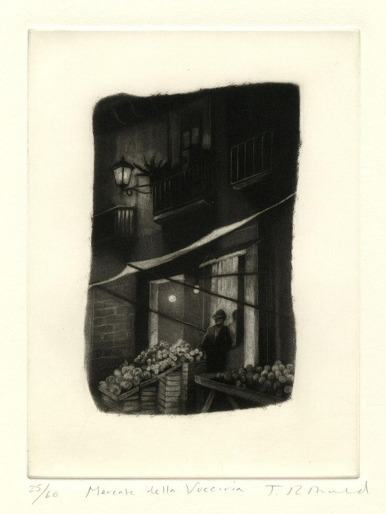 Mercata Delta Vucciria (Palermo, Italy) - Black Interior Print by Judith Rothchild