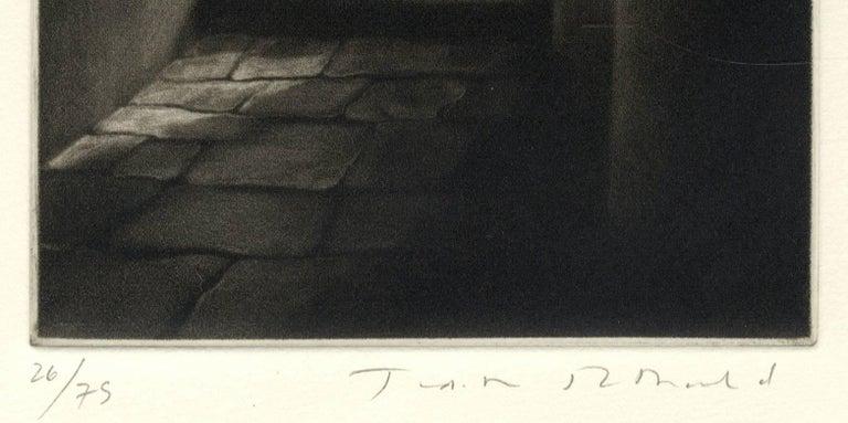 Soto Portego del Magzen (entryway in Venice, Italy) - Black Interior Print by Judith Rothchild