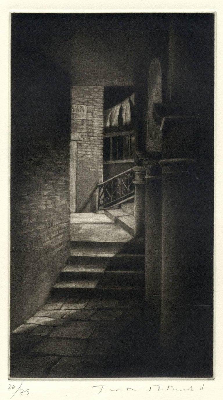 Judith Rothchild Interior Print - Soto Portego del Magzen (entryway in Venice, Italy)