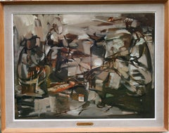 Campfire - Australian art 60's Abstract Expressionist landscape oil painting