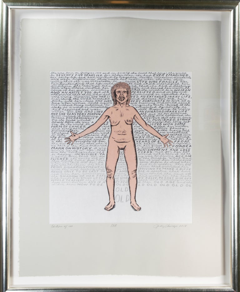 'Old,' original signed print by Judy Chicago from Madison Print Club For Sale 1