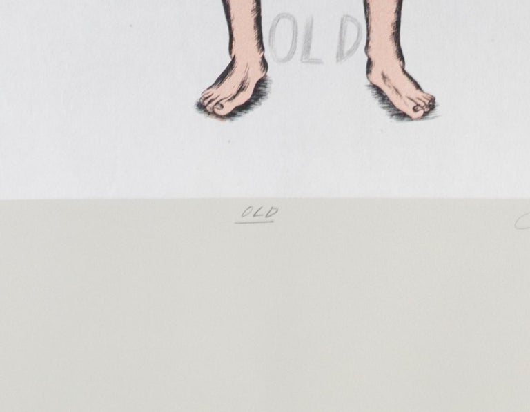 'Old,' original signed print by Judy Chicago from Madison Print Club For Sale 4