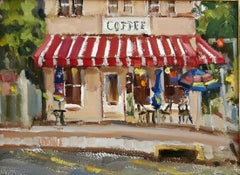 Coffee Anyone ? oil painting , TX Hill Country ,Impressionism ,SW Art Magazine