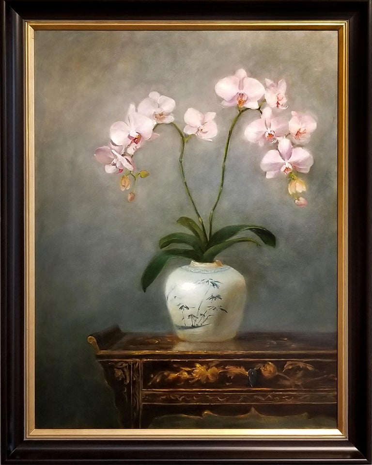 Judy Crowley Still-Life Painting - Orchids