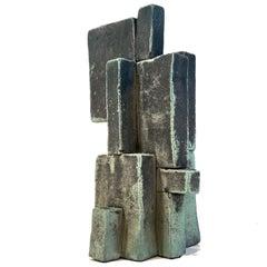'Half of 25' Weathered Bronze Ceramic Sculpture