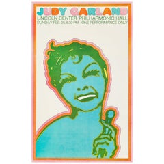 Judy Garland Original Vintage Concert Poster by Seymour Chwast, 1968