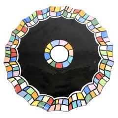 Judy Henderson Post-Modern Ceramic Cake Plate