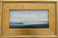 Upper Hudson (En Plein Air Landscape Painting on Canvas in a Gold Frame)