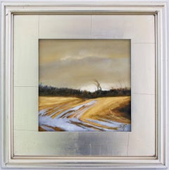 Winter Evening (Small En Plein Air Landscape Painting of a Winter Sunset)