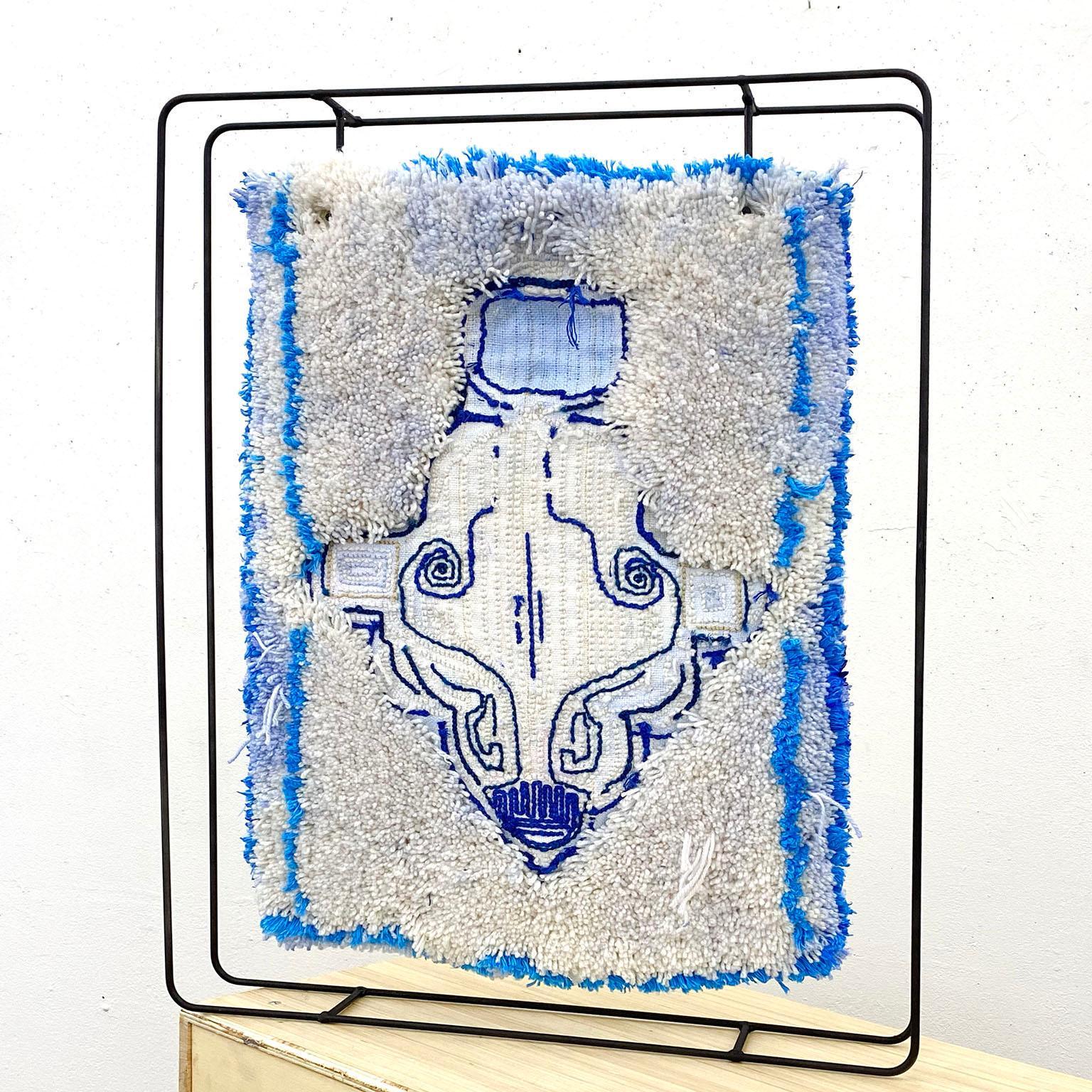 Textile Sculpture on Steel frame: 'Dressy Dickie'