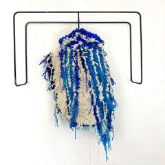 Textile Sculpture on Steel frame: 'Huckabpoo Dickey'