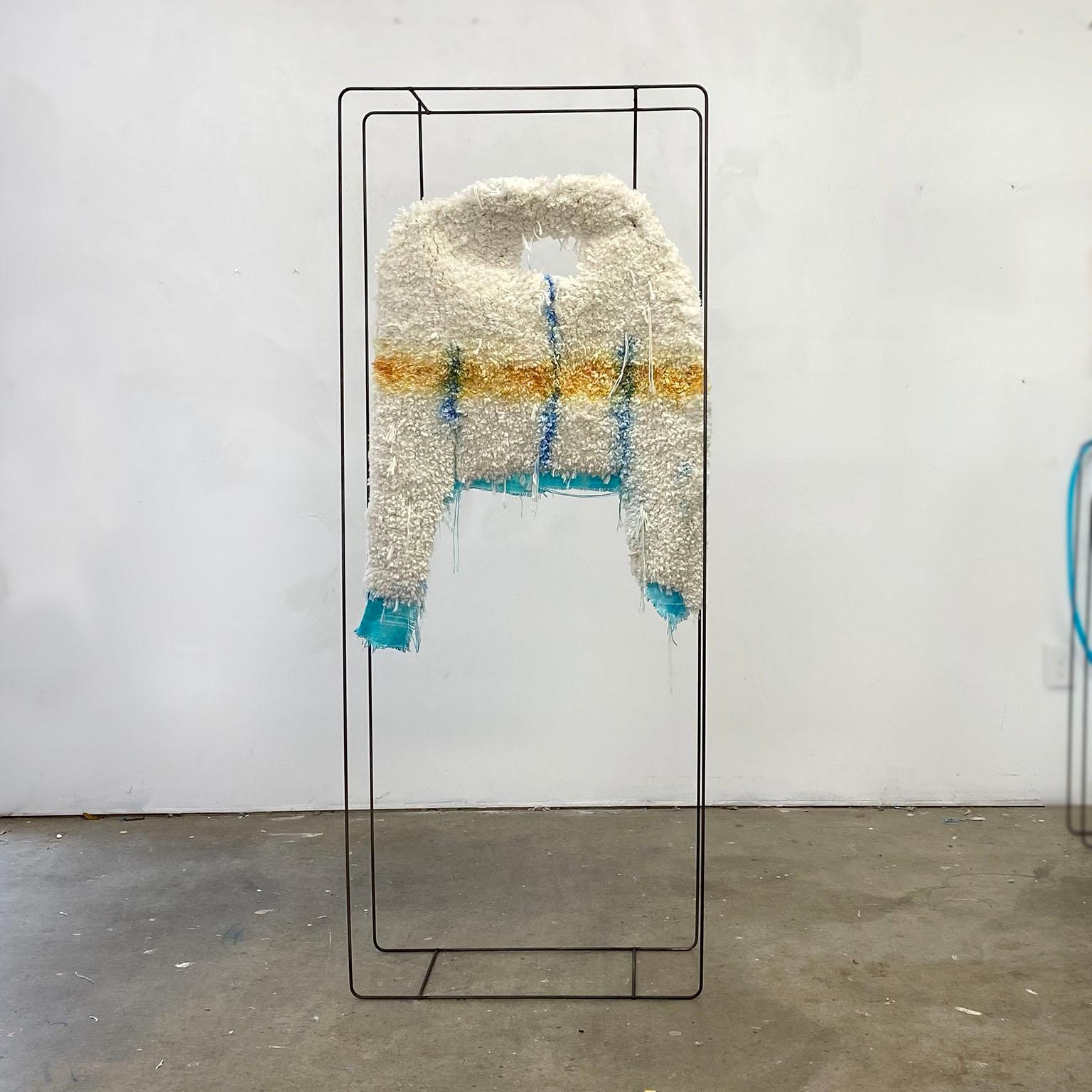 Textile Sculpture on Steel frame: 'Jacket'