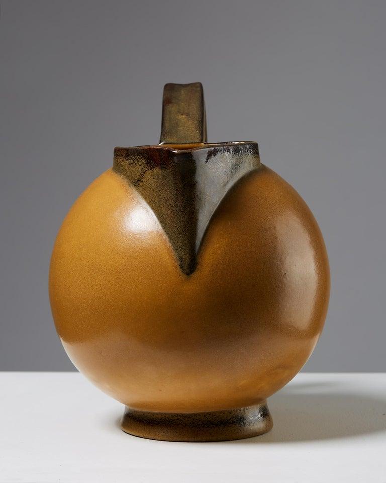 """Swedish Jug """"Terra"""" Designed by Ewald Dahlskog, Sweden, 1930s For Sale"""