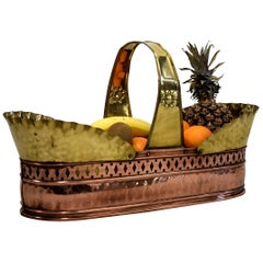 Jugendstil Art Nouveau Brass and Copper Fruit Basket 1910