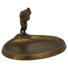 Jugendstil Bronze Ashtray, Vienna, circa 1905