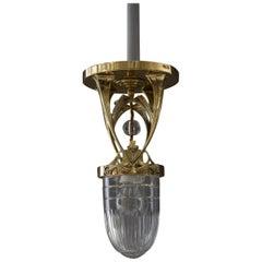 Jugendstil Ceiling Lamp, Vienna, circa 1910s