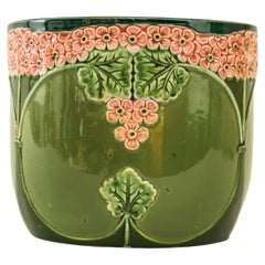 Jugendstil Ceramic Flower Pot Vienna Around 1900s