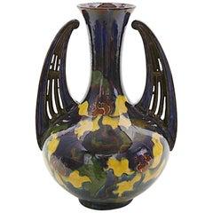 Jugendstil Ceramic Vase, Moravia Early 20th Century