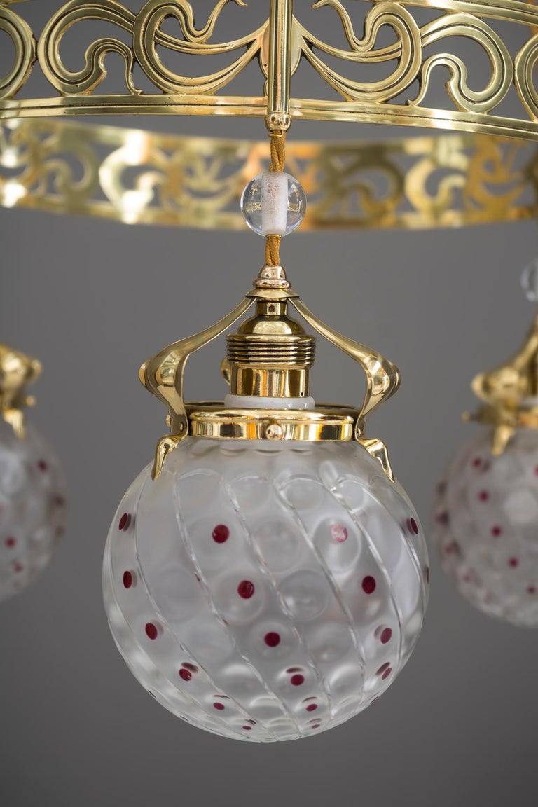 Jugendstil chandelier, Vienna, circa 1909