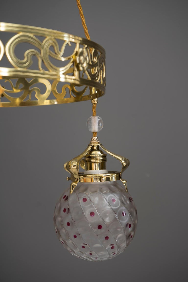 Early 20th Century Jugendstil Chandelier, Vienna, circa 1909 For Sale