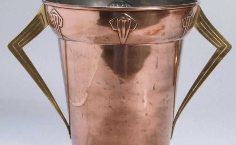 Jugendstil Copper and Brass Ice Container, Germany, 1910s In Good Condition For Sale In Roma, IT