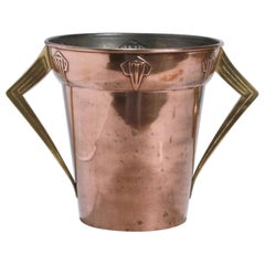 Jugendstil Copper and Brass Ice Container, Germany, 1910s