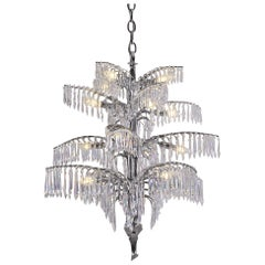 "Jugendstil Famous ""Palme"" by Josef Hoffmann Crystal Chandelier, Re-Edition"