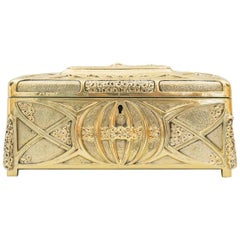 Jugendstil Massive Jewelry Box, Vienna, circa 1908s