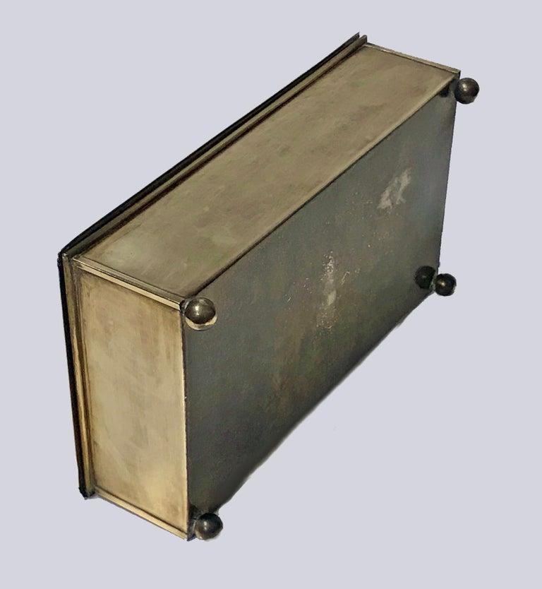Jugendstil Nouveau Secessionist Brass Box Carl Deffner Germany, circa 1910 For Sale 1