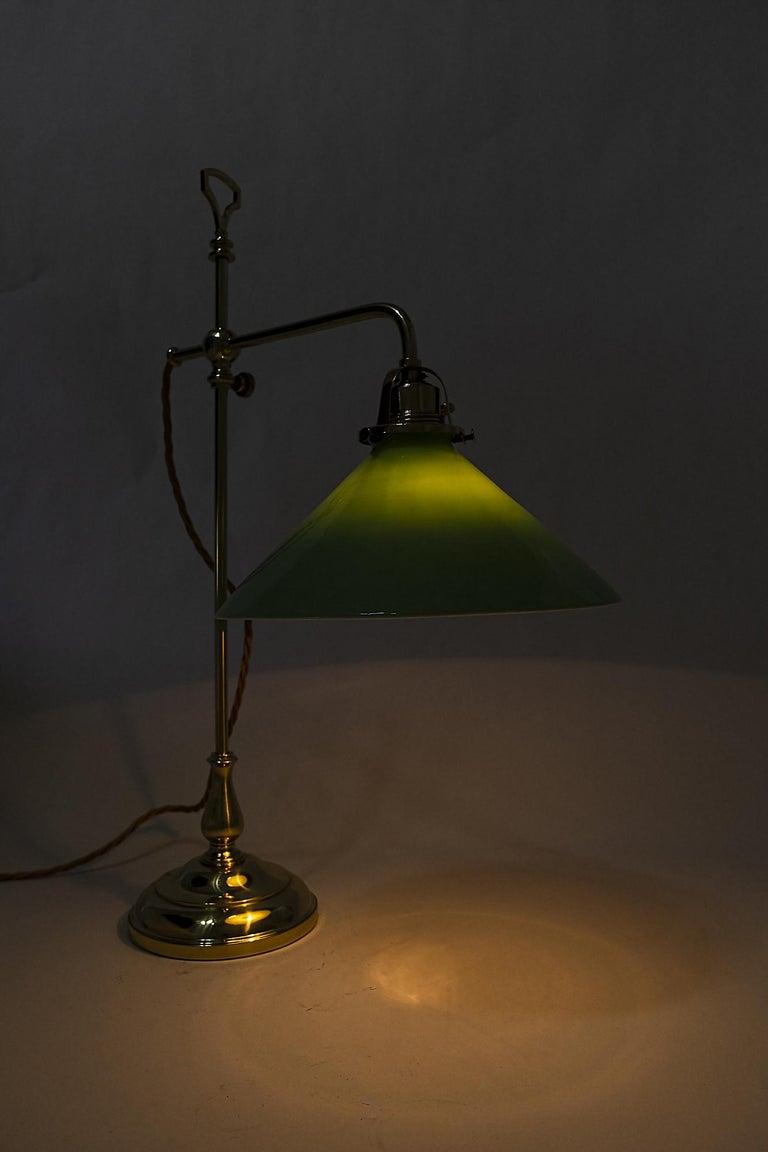 Lacquered Jugendstil Table Lamp