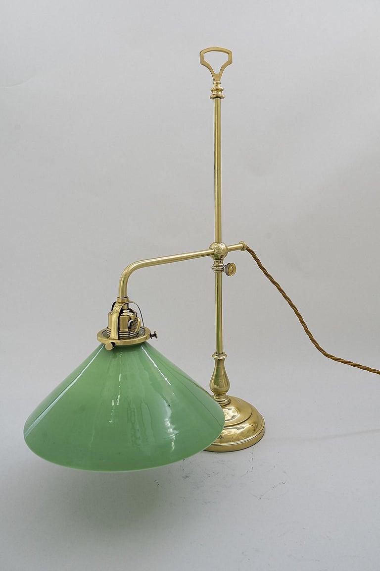 Brass Jugendstil Table Lamp