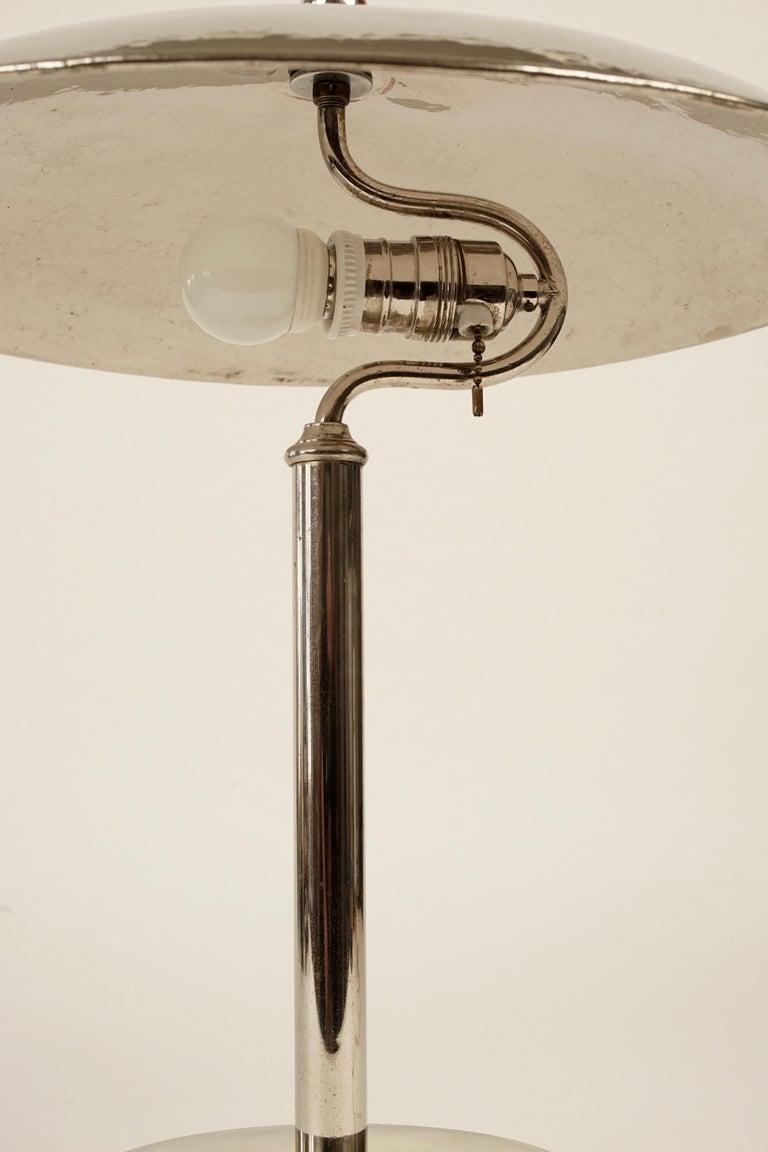 Hammered Jugendstil Table Lamp in Influences from Josef Hoffmann For Sale