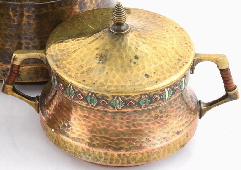 Brass Jugendstil Vintage Tea Set by WMF, Germany, 1910s For Sale