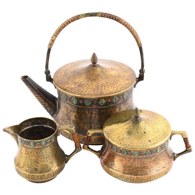 Jugendstil Vintage Tea Set by WMF, Germany, 1910s For Sale