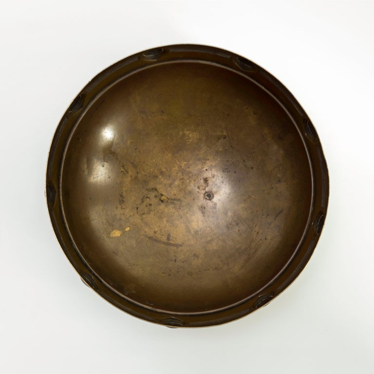 Jugendstil Brass Bowl Designed by Albin Mueller for WMF In Fair Condition For Sale In Mexico, DF