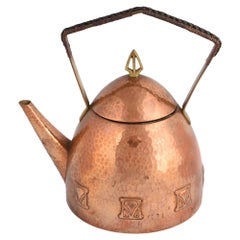 Jugendstil Copper and Brass Teapot by Atelier Mayer for WMF, Germany, 1905-1910