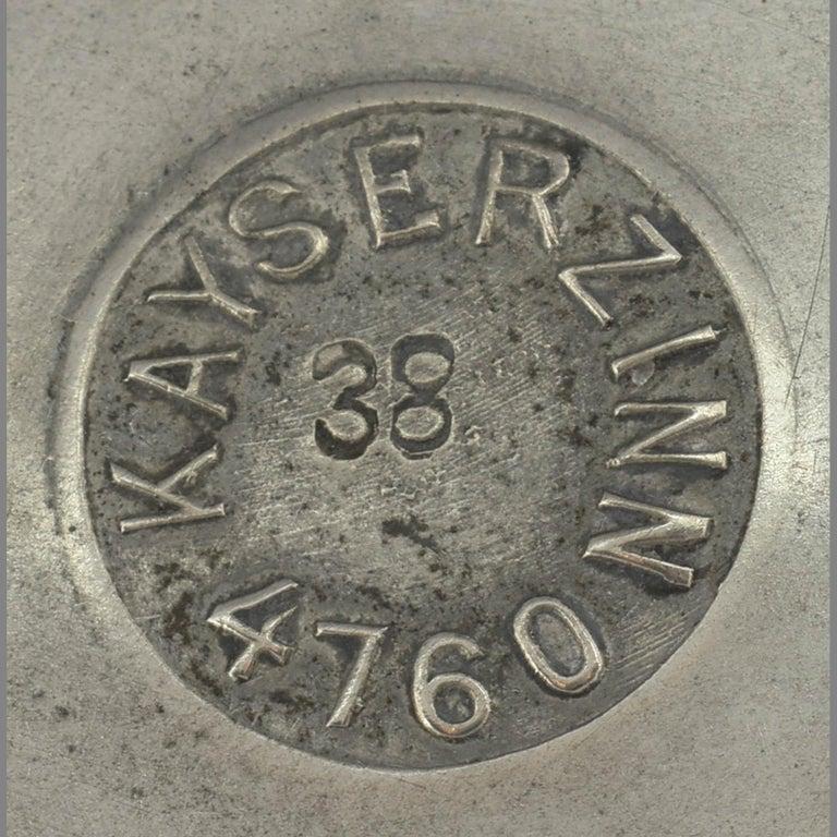 German Jugenstil Silver Plate Centerpiece on Tray / Teaset by Karl Berghof, 1905 For Sale