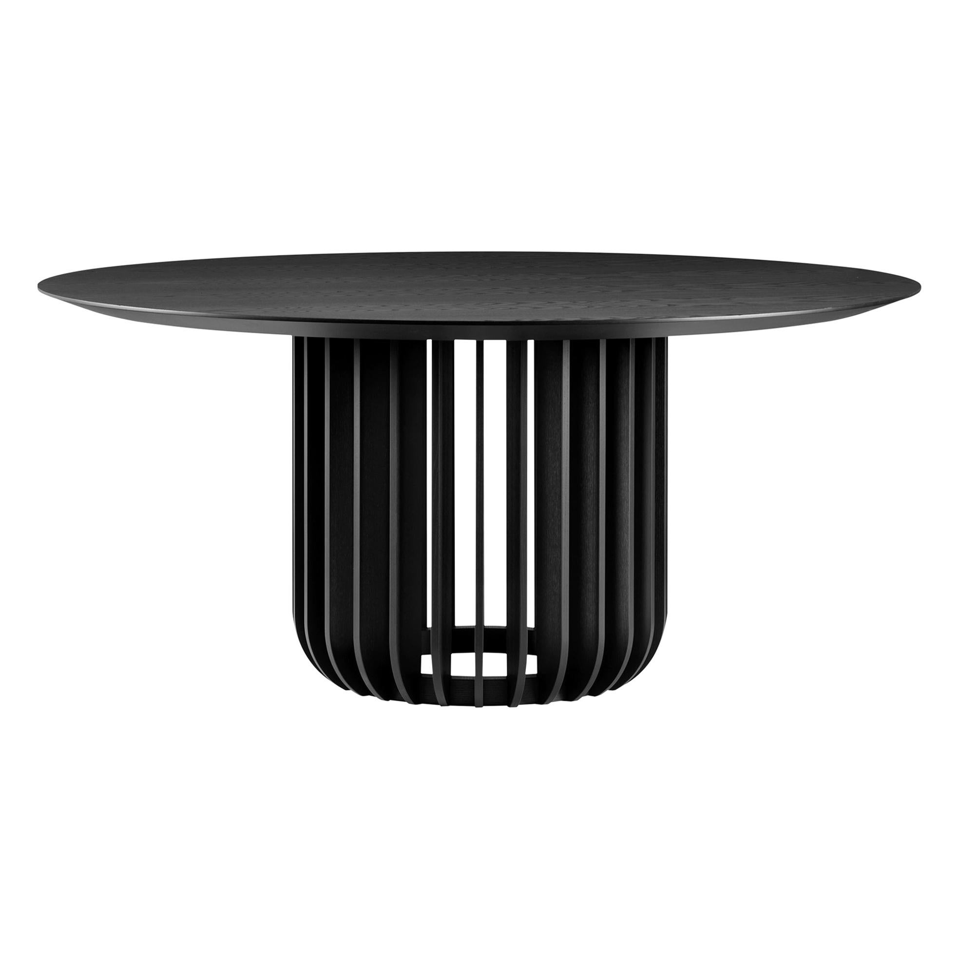 Juice Small Round Table with Black Ash Top and Base by E-GGS