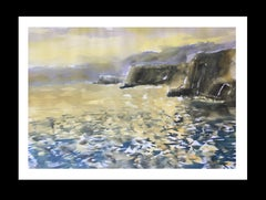 COAST. MAJORCA original watercolor painting
