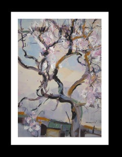 """TREE. ALMOND BLOSSOM original acrylic painting"