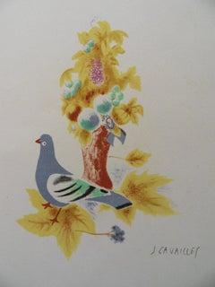 The Dove - Original lithograph, Handsigned