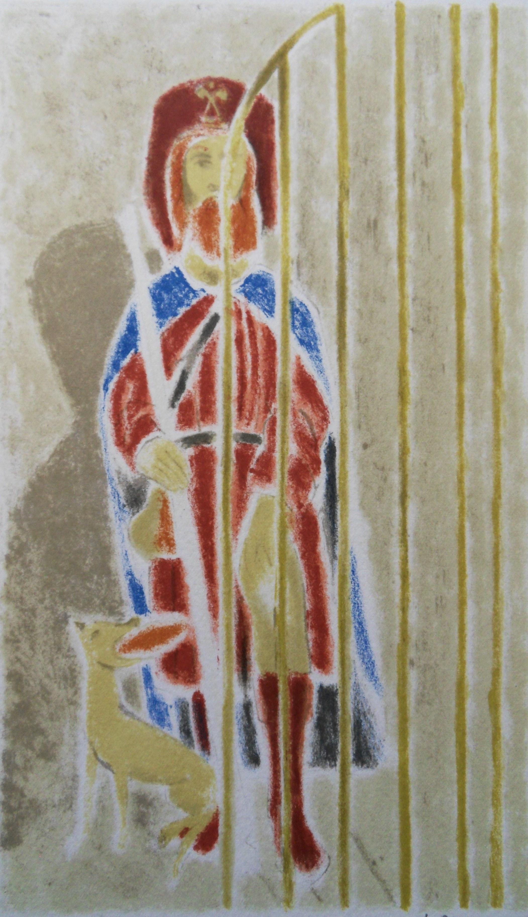 The Pilgrim - Original lithograph, Handsigned
